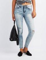 Charlotte Russe Acid Wash Push Up Skinny Jeans