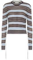 Fendi Striped silk-blend sweater