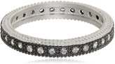 "Freida Rothman CLASSICS"" Two Tone Sterling and Rhodium Pave Band, Size 6"