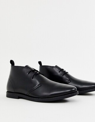 KG by Kurt Geiger Kg Kurt Geiger Porter Leather Desert Boots-Black