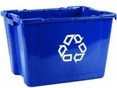 """Rubbermaid R) Computer Paper Collection """"We Recycle"""" Container,2/2 Gallons,3/2-Inch H by 20-Inch W by5-Inch D"""