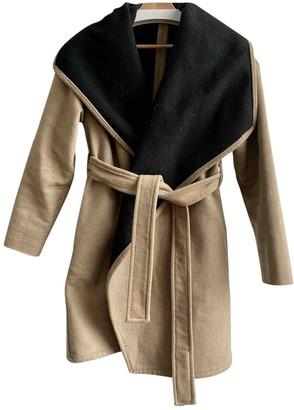 MANGO Camel Wool Coat for Women