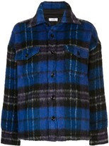 Anine Bing Samone oversized plaid-pattern coat