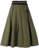History Repeats - frayed waistband skirt - women - Cotton/Spandex/Elastane - 40