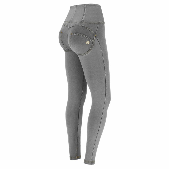 Freddy WR.UP high-Rise Skinny-fit Trousers in Denim-Effect Fabric - Clear Jeans-Yellow Seams - Small