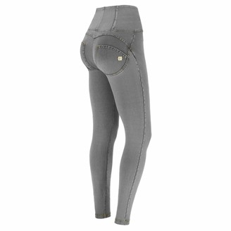 Freddy WR.UP high-Rise Skinny-fit Trousers in Denim-Effect Fabric - Gray Jeans-Yellow Seams - Medium