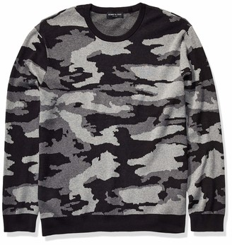 Kenneth Cole Men's Long Sleeve Crew Neck Camo Sweatshirt