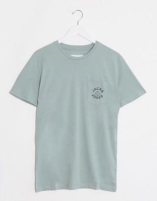 Jack and Jones Logo chest pocket t-shirt