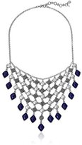"Lucky Brand Lapis Statement Necklace, 17"" + 2"" Extender"