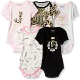 Juicy Couture Girls' Baby 5 Pack Bodysuits
