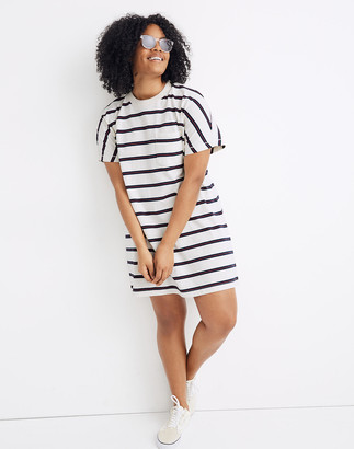 Madewell Tomboy Pocket Tee Dress in Stripe