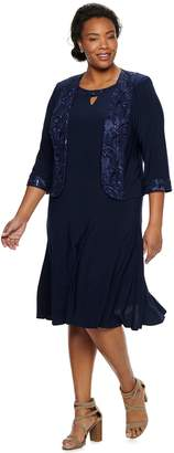 Le Bos Womens Navy Embellished Collar Jacket Dress