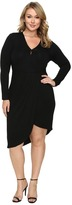 Christin Michaels Plus Size Ailie Long Sleeve Crossed Dress