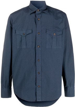 Eleventy Long-Sleeve Fitted Shirt