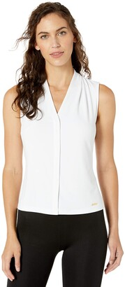 Calvin Klein Women's Solid Sleeveless V-Neck Cami (Petite and Standard)