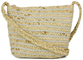 Magid Women's Crossbodies SILVER - Natural & Silver Stripe Woven Crossbody Bag