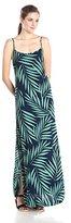 Monrow Women's Palm Print Tank Maxi Dress with Slits