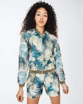 Nicole Miller Palm Leaf Bomber