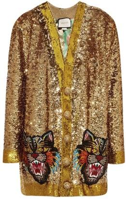 Gucci Gold Silk Knitwear for Women