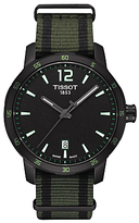 Tissot T0954103705700 Quickster Quartz Nato Fabric Strap Watch, Black