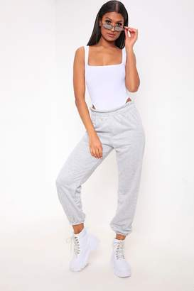 I SAW IT FIRST Grey Frill Waist Casual Joggers