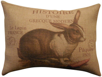 "Polkadot Apple Pillows French Rabbit Burlap Pillow, 12""x16"""