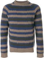 Boglioli striped crew neck pullover