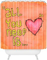DENY Designs Isa Zapata All You Need Is Love Shower Curtain, 69 by 72
