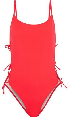 Solid & Striped One-piece swimsuit