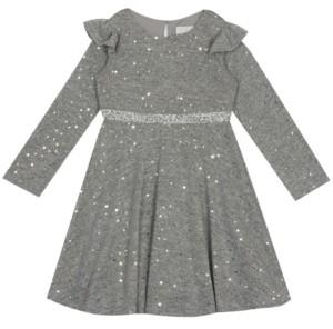 Rare Editions Toddler Girl Foil Hacci Skater Dress