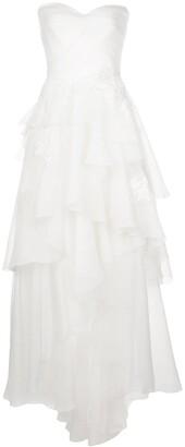 Tadashi Shoji Cyd strapless high-low gown