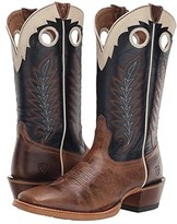 Ariat Real Deal (Dusted Wheat/Navy) Cowboy Boots