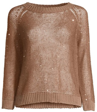 Max Mara Rimmel Fishnet Sequin Sweater