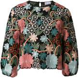 RED Valentino embroidered floral top