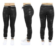 Galaxy By Harvic Women's Loose Fit Camo Tech Stretch Joggers