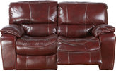 Rooms To Go Sanderson Mahogany Leather Loveseat