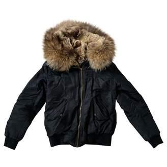 Ducie Black Faux fur Jackets