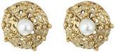 Oscar de la Renta Urchin Pearl Button P Earrings