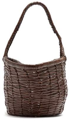 Dragon Optical Diffusion - Jane Birkin Small Woven-leather Bag - Womens - Brown Multi