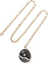 Cvc Stones Pista 18-karat Gold, Stone And Diamond Necklace