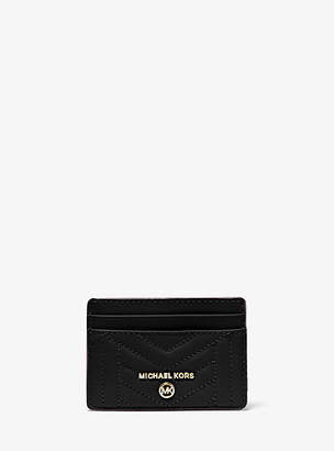 MICHAEL Michael Kors MK Quilted Leather Card Case - Black - Michael Kors