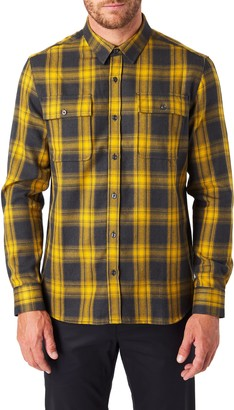 7 Diamonds Milo Slim Fit Plaid Button-Up Shirt