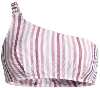 Peony Swimwear One-Shoulder Striped Bikini Top