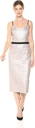 Dress the Population Women's Emma Sequin Sleeveless Fitted Midi Sheath Dress