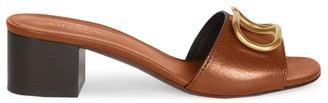 Valentino VLogo Leather Mules
