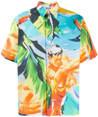 MSGM Loose-Fit Printed Shirt