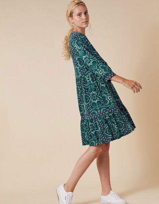 Under Armour Heart Print Dress with Organic Cotton Blue