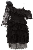 Preen by Thornton Bregazzi Valerie One-shoulder Tiered Lace Dress - Womens - Black