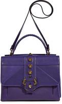 Paula Cademartori Violet Leather Petite Faye Satchel