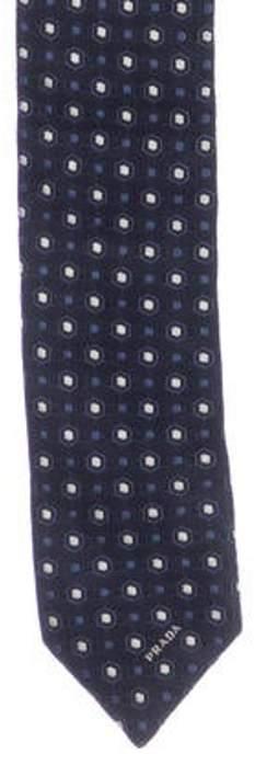 Prada Silk Jacquard Tie blue Silk Jacquard Tie
